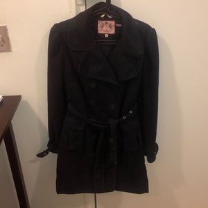 Black Juicy Couture Woman's Trench Coat - L